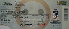 TICKET Sky Box Eishockey WM 3.5.2015 Canada - Deutschland in Prag