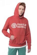 Franklin & Marshall Homme Sweat À Capuche Effet Vieilli Rouge LARGE