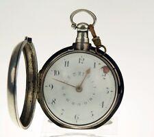 Kalender Spindel Taschenuhr Silber Uhr Calendar silver pocket watch clock fusee