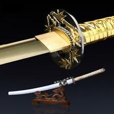 Gold Katana, Handmade Real Katana Japanese Samurai Sword
