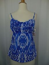 INC International Concepts Petite Sleeveless Earthly Ikat Print Tank PP #3434