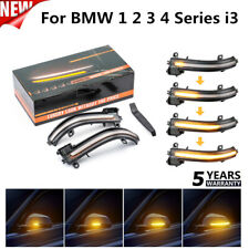 For BMW 1 2 3 4 Series i3 Smoked Side Mirror Sequential Blink Turn Signal Light@