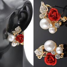 Bijoux fantaisie Boucles d'oreill femmes d'oreille Bijoux Pendante Perle Rose