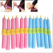 12x Soft Foam Curlers Makers Bendy Twist Curls Tool DIY Styling Hair Rollers Uw
