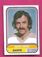 RARE 1975-76 OPC WHA # 97 SAINTS DAVE KEON EX-MT CARD   (INV# D2972)