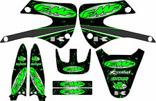 Kx85 FMF Racing Exhaust Graphic Kit 01-12 Green Decal Sticker Kx100 Kx 100 85