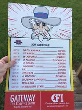 2017 OLE MISS REBEL LARGE FOOTBALL POSTER  SCHEDULE Col. Reb