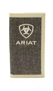Ariat Mens Western Rodeo Wallet Shield Logo Heather Gray A3542305