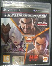 FIGHTING EDITION PS3  NUOVO  TEKKEN 6 TEKKEN TAG TOURNAMENT 2 SOUL CALIBUR 5