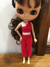 """Crocheted Romper For 12"""" Neo Blythe doll Takara doll Jumpsuit Clothes"""