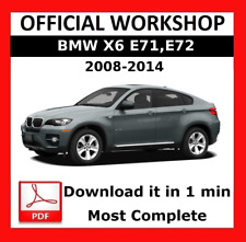 >> OFFICIAL WORKSHOP Manual Service Repair BMW Series X6 E71 2008 - 2014