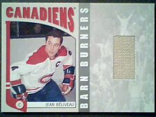 JEAN BELIVEAU   AUTHENTIC PIECE OF A VINTAGE GAME-USED JERSEY /50  *SP*