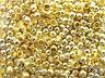 50 Quetschperlen 3 mm goldfarben Endperlen Schmuck Basteln gold#