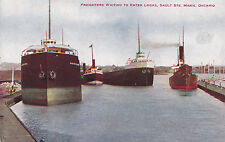 Freighters to Enter Locks SAULT STE. MARIE Ontario Canada 1900-23 V.O. Hammon
