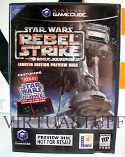 STAR WARS, ROGUE SQUADRON III, 3, REBEL STRIKE, PREVIEW DISC, GAMECUBE, USA, CA