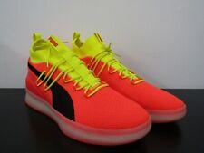 PUMA Clyde Knit Basketball Shoes Yellow & Orange Athlete Size 17