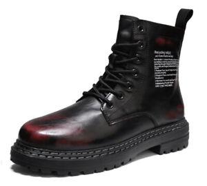 Men Motorcycle Ankle Boots Light UK 7.5 / 40 Vegan