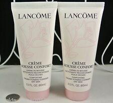 2 x Lancome Creme Mousse Confort Creamy Foaming Cleanser 2 x 2 oz/ 60 mL each