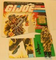 1985 GI Joe Desert Trooper Dusty v1 Figure w/ File Card Back *Near Complete
