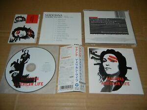 "MADONNA ""American Life"" JAPAN CD w/OBI WPCP-11540 with promo Sticker sheet"