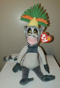 Ty Beanie Baby - KING JULIEN the Lemur (Madagascar Movie) MINT with CREASED TAG