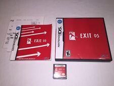 Exit DS (Nintendo DS) Original Release Complete Nr Mint!