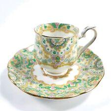 Vintage Royal Albert Paisley Shawl Demitasse Teacup & Saucer England 1927-1935