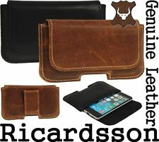 RICARDSSON GENUINE REAL LEATHER HOLSTER BELT LOOP POUCH CASE FOR SAMSUNG PHONES