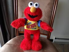 "Elmo Shout plush 14"" works Mattel 2004 toy"