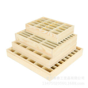 30 Compartment Display Storage Section Jewellery Keepsake Wooden Tray Box