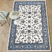 ROSA TRADITIONAL WHITE BLUE CLASSIC FLOOR RUG (S) 120x170cm **FREE DELIVERY**