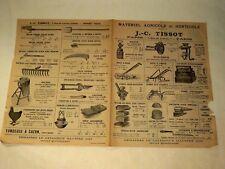 Prospectus Matériel Agricole TISSOT brochure Tracteur Traktor prospekt
