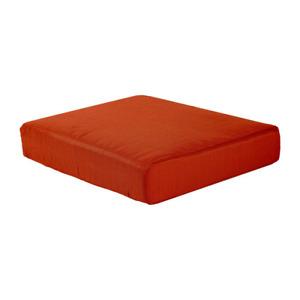 Outdoor Ottoman Cushion  Washed Orange Weather Resistant Box Edge