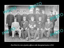 OLD POSTCARD SIZE PHOTO OF PORT PIRIE SA POLICE & ABORIGINAL TRACKER c1910