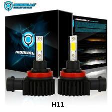 2x IRONWALLS H11 LED Headlight Bulb Kit Low Beam Fog Light 2200W 6000K 330000Lm