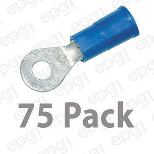 3M RING TERMINAL VINYL #6 BLUE 16-14 GAUGE #3M106C-75PK