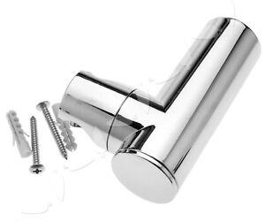 Bathroom Shower Head Hand Holder T Shaped Bracket Wall Mounted Chromed