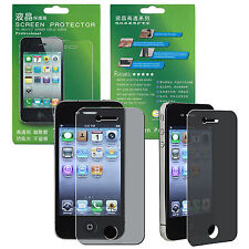 New Privacy Anti-PEEK LCD Screen Guard Protector Shield Film For iPhone 4 4S 4G