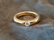 Cartier Superbe alliance jonc en or jaune sertie d'un diamant 0.25ct