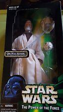 "1998 Hasbro Star Wars 12"" Obi-Wan Kenobi with Glow-in-the-dark Lightsaber"