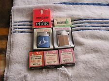 Vintage Lot Bentley Flick Lighters and Butane Refills