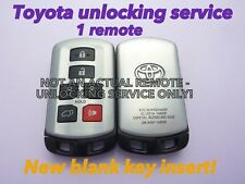 TOYOTA SIENNA unlocking service smart keyless remote HYQ14ADR +BLANK KEY INSERT