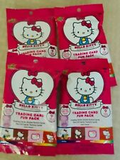Hello Kitty's 40th Anniversary Trading Card Fun Packs LOT OF 4