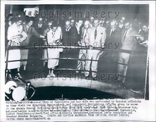 1956 Marshal Tito & Wife of Yugoslavia at Exhibition Moscow Russia Press Photo