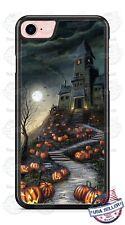 Halloween Haunted Mansion Pumpkin Phone Case For iPhone i11 Samsung LG Google