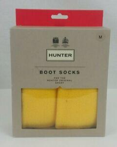 Medium - Hunter Boot Socks for Original Short Boots (Bright Pink, Cream, Yellow)
