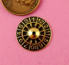 """Roulette Wheel""-2 Pc(s) Vintage Design Ant Brass"