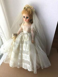 VINTAGE MADAME ALEXANDER ELISE BRIDE DOLL BLONDE W/ TAGGED DRESS SHOES