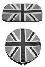 Lambretta & vespa Black & white Union Jack Spare Wheel & Backrest Pad Cover