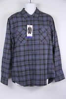 New Weatherproof Flannel Shirt Blue Plaid M L XL Mens